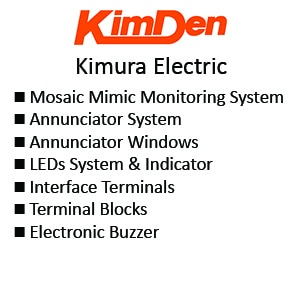 Kimden Mosaic Mimic Monitoring Panel - Annunciator System - Annunciator Windows - LEDs System & Indicator - Interface Terminals  - Terminal Blocks - Electronic Buzzer