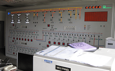 Control Room Mosaic Monitoring Panel 1